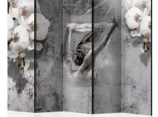Paraván - Arrangement with orchid II [Room Dividers]